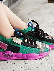 abordables -Garçon / Fille Confort Maille Chaussures d'Athlétisme Petits enfants (4-7 ans) / Grands enfants (7 ans et +) Combinaison Beige / Vert Printemps / Automne / Bloc de Couleur / Gomme