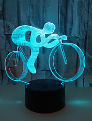 cheap -1Pc Usb Power Abstract Art 3D Color Lamp Color Touch Gradient Vision Night Light Bicycle Sport Children'S Birthday Gift Color 3D Acrylic Desk Lamp