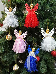 cheap -Christmas Plush Angel Pendant Tree Charm Child Cute Plush Doll Gift