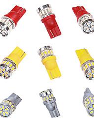 cheap -2pcs T10 LED White 18SMD 3014 Led Car Light W5w 194 168 CANBUS Error Bulbs 12V Wedge Lamp Turn Signal Light Band Decoder Sign