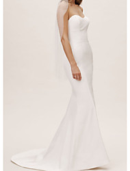 cheap -Mermaid / Trumpet Sweetheart Neckline Sweep / Brush Train Satin Strapless Made-To-Measure Wedding Dresses with 2020