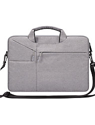 cheap -13.3 Inch Laptop / 14 Inch Laptop / 15.6 Inch Laptop Sleeve / Shoulder Messenger Bag / Briefcase Handbags Nylon Fiber Solid Color / Textured for Business Office for Colleages & Schools Waterpoof