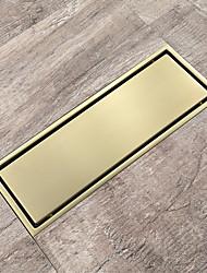 Недорогие -полированная золотая канализация сус304 напольная плитка 30х11 см