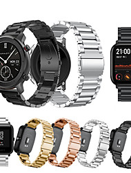 cheap -For Huami Amazfit GTS/Amazfit Bip/GTR 42mm Stainless Steel Strap Watch Band Bracelet