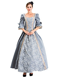 cheap -Princess Retro Vintage Medieval Dress Party Costume Masquerade Women's Costume Gray Vintage Cosplay Party Halloween Festival Half Sleeve Ankle Length Princess