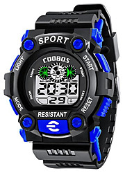 cheap -Kids Digital Watch Digital Digital Outdoor Water Resistant / Waterproof Chronograph Shock Resistant / One Year / Rubber