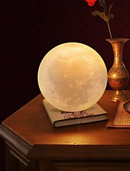 cheap -Moon Lamp LED Night Light 3D Globe Brightness Batteries Powered Home Decorative for Baby Kid New Year Christmas Gift Wooden Stand 10cm x 10cm