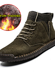 cheap -Men's Fashion Boots Pigskin Fall & Winter Vintage / Casual Boots Walking Shoes Non-slipping Booties / Ankle Boots Black / Brown / Dark Green