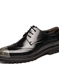 cheap -Men's Formal Shoes PU Fall Oxfords Black / Silver / Orange / Black / Party & Evening / Party & Evening