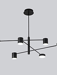 cheap -6-Light 6 Lights LED Industrial Chandelier/ Ambient Light Black Painted for Living Room Bedroom 110-120V/ 220-240V / Warm White/ White