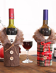 cheap -Christmas Decorations Set Of Red Wine Bottles Kitchen Santa Sacks Buffalo Pictures Home Decoration