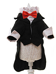 cheap -Dogs Outfits Dog Clothes Black White Costume Large Dog Polyster Solid Colored Wedding XS S M L XL XXL