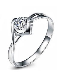 cheap -Women's Ring Open Ring 1pc Silver Copper Circular Basic Korean Fashion Gift Daily Jewelry Sweet Heart Heart