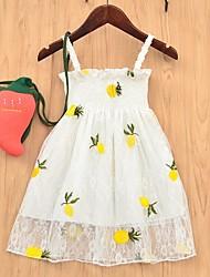 cheap -Kids Girls' Fruit Dress White