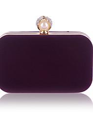 abordables -Femme Détail Perle Velours Pochette Couleur unie Noir / Violet / Fuchsia