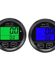 cheap -60mm GPS Speedometer Gauge Odometer LCD Digital Dust-Proof Kmh For Car Motorcycle ATV Marine Boat Truck - Blue