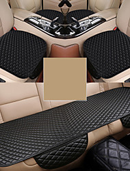 cheap -3 pcs Universal Car Seat Cover PU Leather Cushions Front Back Seats Covers Protector Mat Backseat Seat Cover Auto Chair Seat Protector Mat Pad