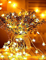 cheap -10M 80LEDs Star Fairy Garland String Lights Novelty For New Year Christmas Wedding Home Indoor Decoration Battery Powered