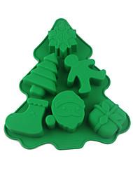 Недорогие -1 шт. Пищевой силиконовые формы для выпечки 6 даже рождественские каникулы класс diy формы для выпечки