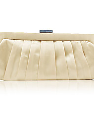 cheap -Women's Crystals Satin Evening Bag Solid Color Gold / Red