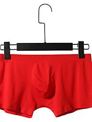 cheap -Men's Basic Boxers Underwear / Briefs Underwear - Asian Size 1 Piece Low Waist Black Light gray White M L XL