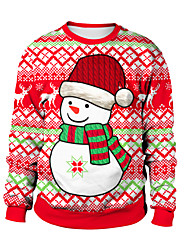 cheap -Animal Ugly Christmas Sweater / Sweatshirt Adults' Couple's Christmas Halloween Festival / Holiday Spandex Polyester Red / Mint Green / Pale Blue Couple's Easy Carnival Costumes / Top / Top