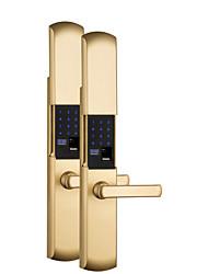 cheap -Factory OEM HG816 Zinc Alloy Fingerprint Lock / Intelligent Lock / Password lock Smart Home Security Android System Fingerprint unlocking / Password unlocking Home / Office / Hotel Wooden Door
