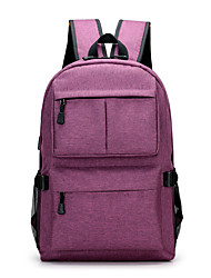 cheap -15.6 Inch Laptop / 17 Inch Laptop Commuter Backpacks Polyester Solid Color Unisex Water Proof Shock Proof
