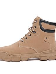 cheap -Men's Combat Boots PU Winter Classic Boots Black / Camel / Khaki