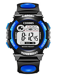 cheap -Kids Digital Watch Digital Rubber Black / Blue / Red 100 m Water Resistant / Waterproof Chronograph New Design Digital Outdoor New Arrival - Black Orange Yellow One Year Battery Life