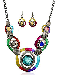 cheap -Women's Necklace Vintage Style Eyes Classic Earrings Jewelry Rainbow For Party 1 set