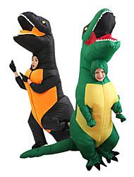Недорогие -Динозавр T-Rex Косплэй Kостюмы Товары для Хэллоуина Надувной костюм Мальчики Девочки Косплей из фильмов Хэллоуин Зеленый / Черный трико / Комбинезон-пижама Вентиляторы Хэллоуин Новый год Полиэстер