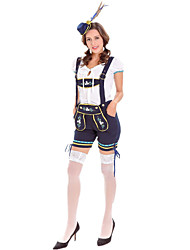 cheap -Oktoberfest Beer Outfits Dirndl Trachtenkleider Women's Blouse Dress Pants Bavarian Costume Black