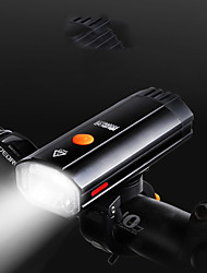 cheap -LED Bike Light Front Bike Light LED Bicycle Cycling Portable USB Charging Output 18650 600 lm Rechargeable Battery White Cycling / Bike / 360° Rotation / IPX 6