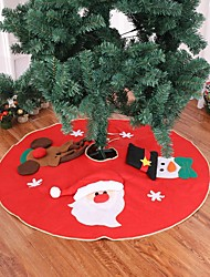 cheap -1PCS Christmas Tree Skirt Carpet 90cm  Decoration For Home Aprons New Year Decoration