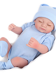 cheap -NPK DOLL 10 inch Reborn Doll Reborn Toddler Doll Baby Boy Baby Girl Safety Gift Cute Full Body Silicone with Clothes and Accessories for Girls' Birthday and Festival Gifts / Kids