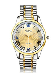cheap -Men's Dress Watch Quartz Formal Style Stylish Stainless Steel Silver / Gold Casual Watch Analog Fashion - Golden White One Year Battery Life