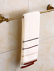 cheap -Towel Bar Creative Antique / Traditional Brass Bathroom Single / 1-Towel Bar Wall Mounted