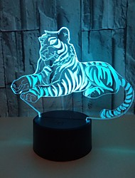 cheap -Voldemort 3D Night Lights Colorful Touch Tiger 3D LED Vision Lights