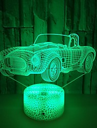cheap -Car Colorful 3D Light LED Acrylic Visual Stereo Table Lamp Touch USB 3D Table Lamp