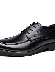 cheap -Men's Formal Shoes Cowhide Spring / Fall & Winter Business / Classic Oxfords Non-slipping Black / Brown / Party & Evening
