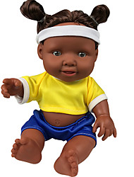 cheap -10 inch Black Dolls Reborn Doll Baby Girl Gift Classic Parent-Child Interaction ABS+PC F334 with Clothes and Accessories for Girls' Birthday and Festival Gifts / Kids