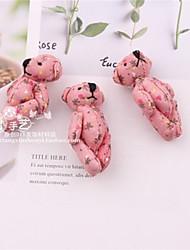 cheap -8cm Colorful Cotton Print Plush Joint Bear(Assorted Colors)