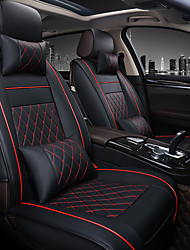 cheap -1pcs Universal All Car Leather Support Pad Car Seat Covers Cushion Accessories(Without headrest and lumbar pillow)-one seat