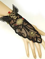 cheap -Women's Vintage Bracelet Ring Bracelet / Slave bracelet Earrings / Bracelet Vintage Style Skull Angel Wings Statement Vintage Trendy Gothic Fashion Alloy Bracelet Jewelry Black For Halloween Club