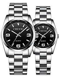 cheap -CHENXI® Men's Dress Watch Quartz Formal Style Stainless Steel Silver 30 m Luminous Noctilucent Analog Luxury Fashion - Black White Blue One Year Battery Life