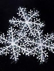 Недорогие -30 шт снежинка стиль декоративные наклейки на Рождество 10 х 10 см - белый