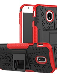 cheap -Phone Case For Samsung Galaxy Back Cover J3 Dustproof Armor Backup Lines / Waves Armor TPU PC