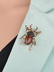 cheap -Men's Women's Brooches Retro Animal Artistic Fashion Brooch Jewelry Brown For Party Festival