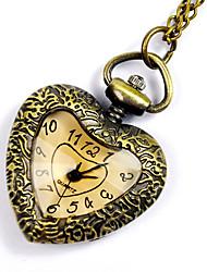 cheap -Men's Pocket Watch Quartz Vintage Style Bronze Creative New Design Casual Watch Analog - Digital Vintage - Bronze